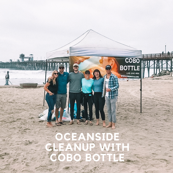 Pure Bliss Bikinis and COBO host cleanup at Oceanside Pier