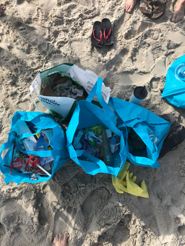 Pure Bliss Bikinis trash found at mission beach cleanup