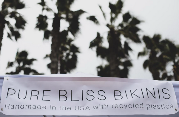 Pure Bliss Bikinis made with recycled plastics