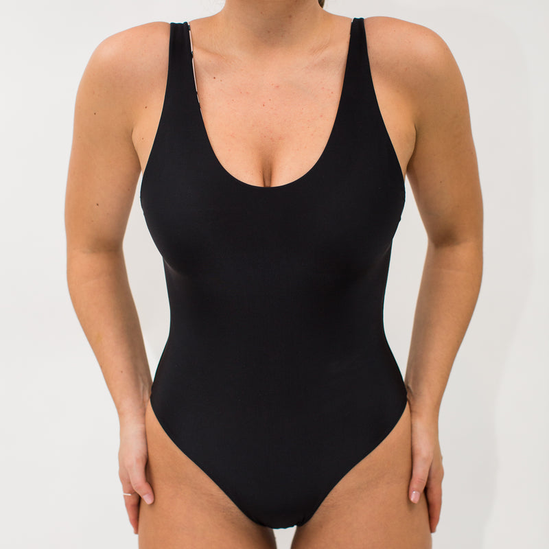 The Bo One Piece - Reversible Wild Hibiscus and Midnight