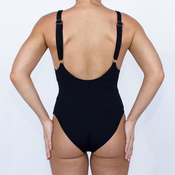 Laguna One Piece - Black Rib