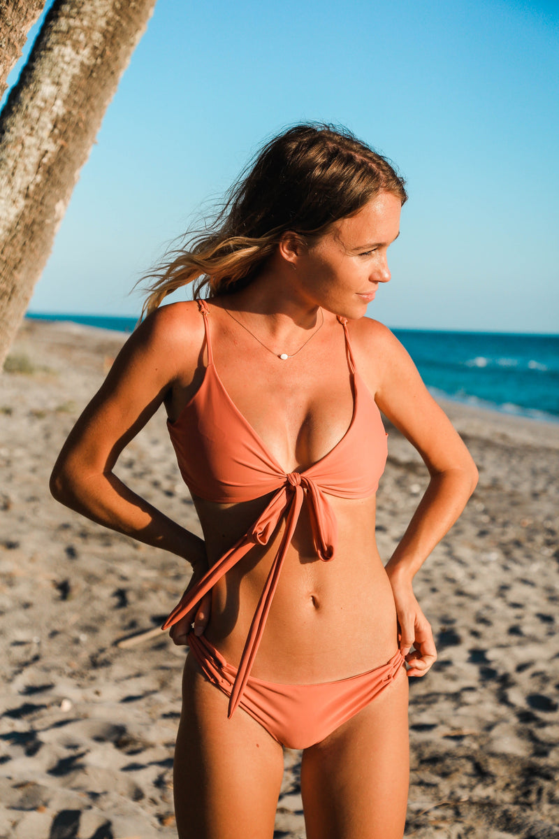 Kailua Wrap Bikini Top - Rosé All Day