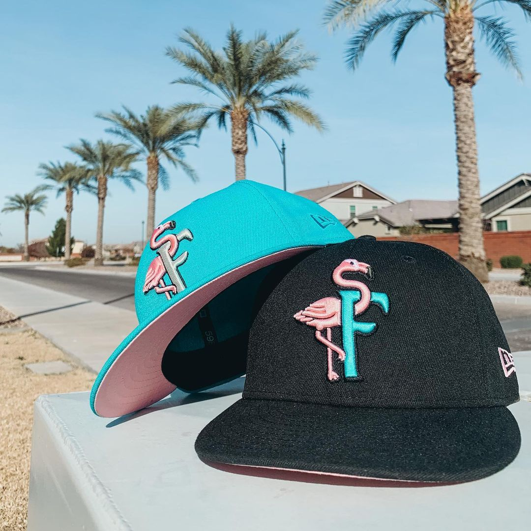 The Clink Room x Hat Club New Era Flamingo Fam Fitted Hat