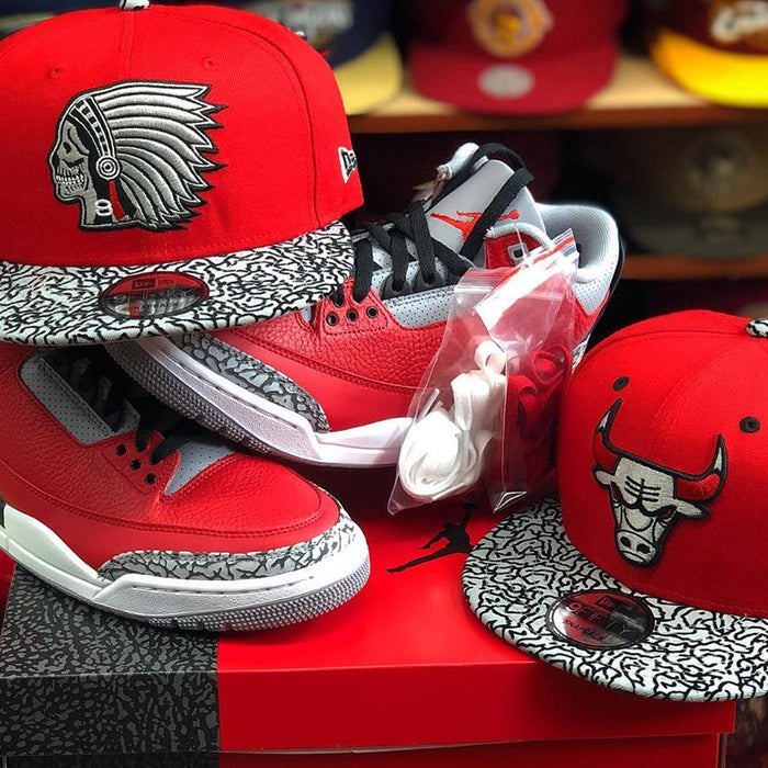 Chicago Bulls Fitted Hat w/ Matching Jordans