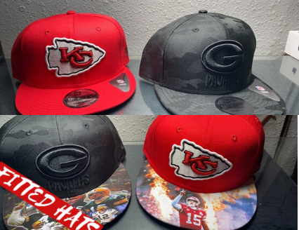 custom brim artwork fitted hat snapback hat