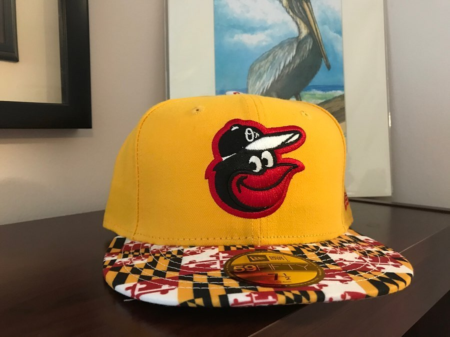 Baltimore Orioles Maryland Flag Brim Fitted Hat