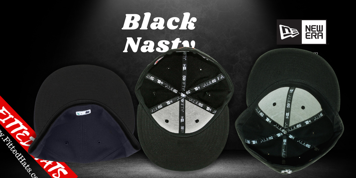 Black Nasty Fitted Hats