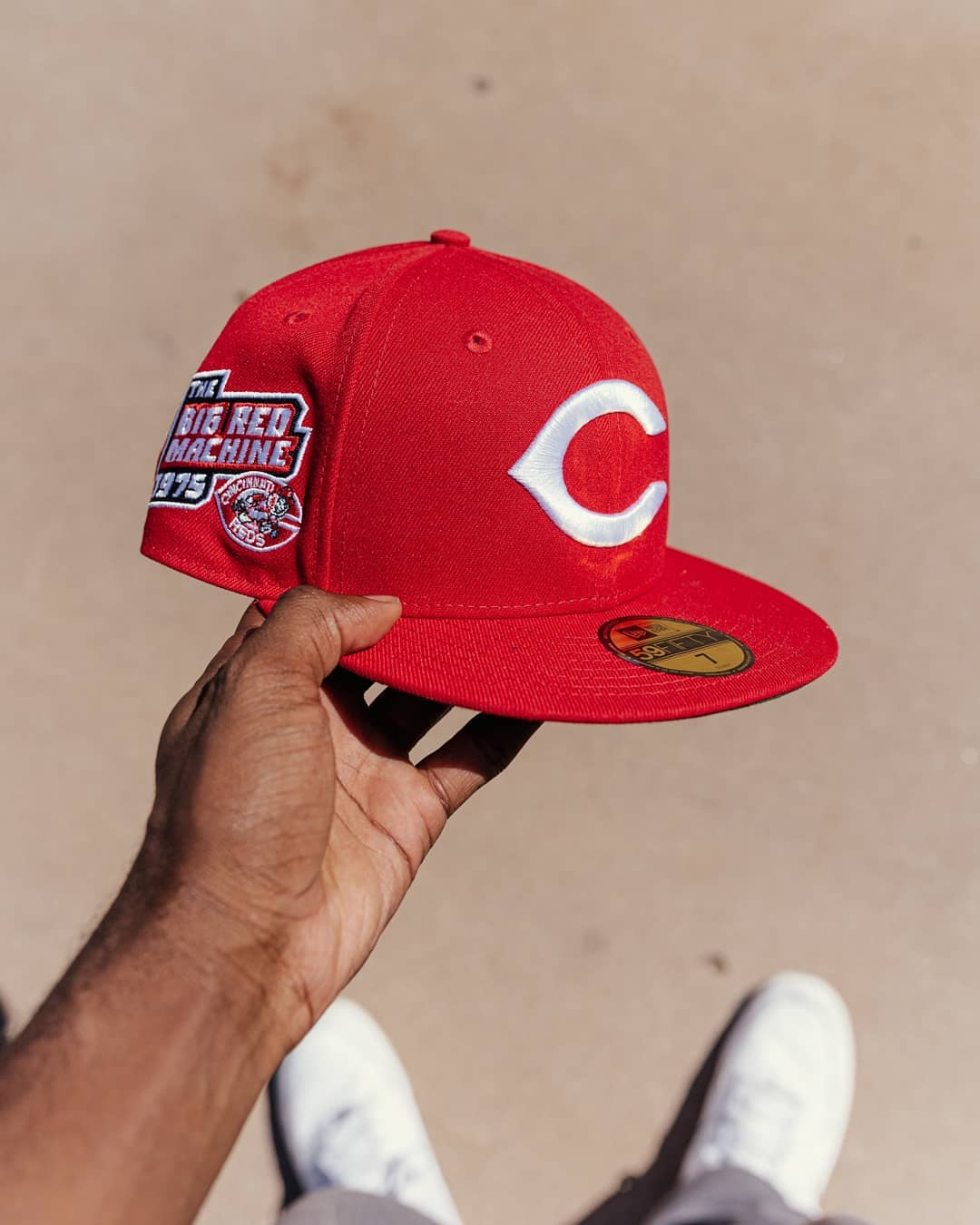 Chicago Cubs Red Hat Club Fitted Hat