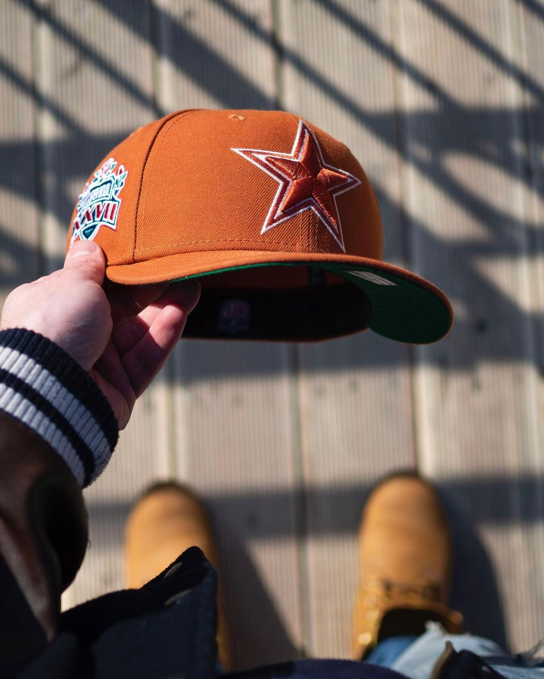 Rust Orange Fitted Hats Kelly Green Undervisor