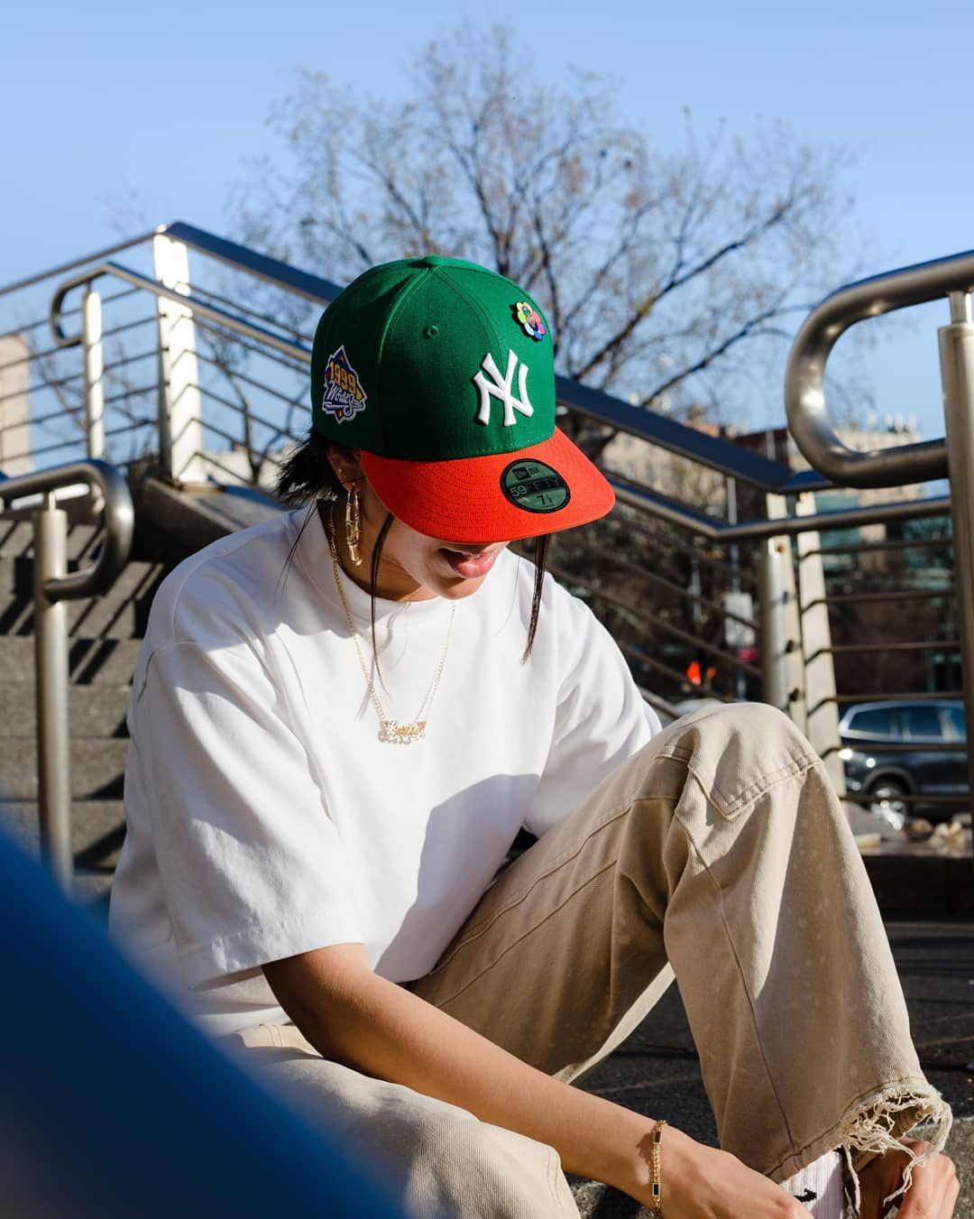 Jae Tips Fitted Hat