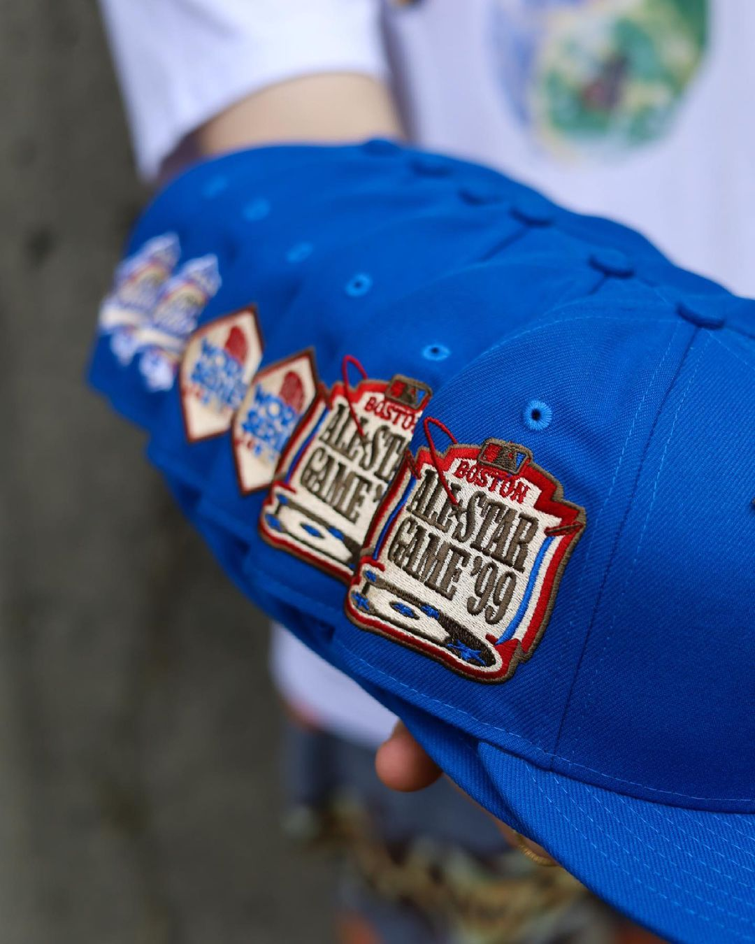 Blue Nitro Fitted Hats