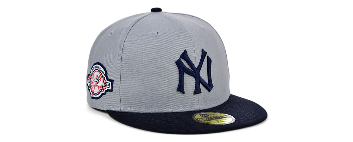 Yankees MLB Gray Anniversary Fitted Hat
