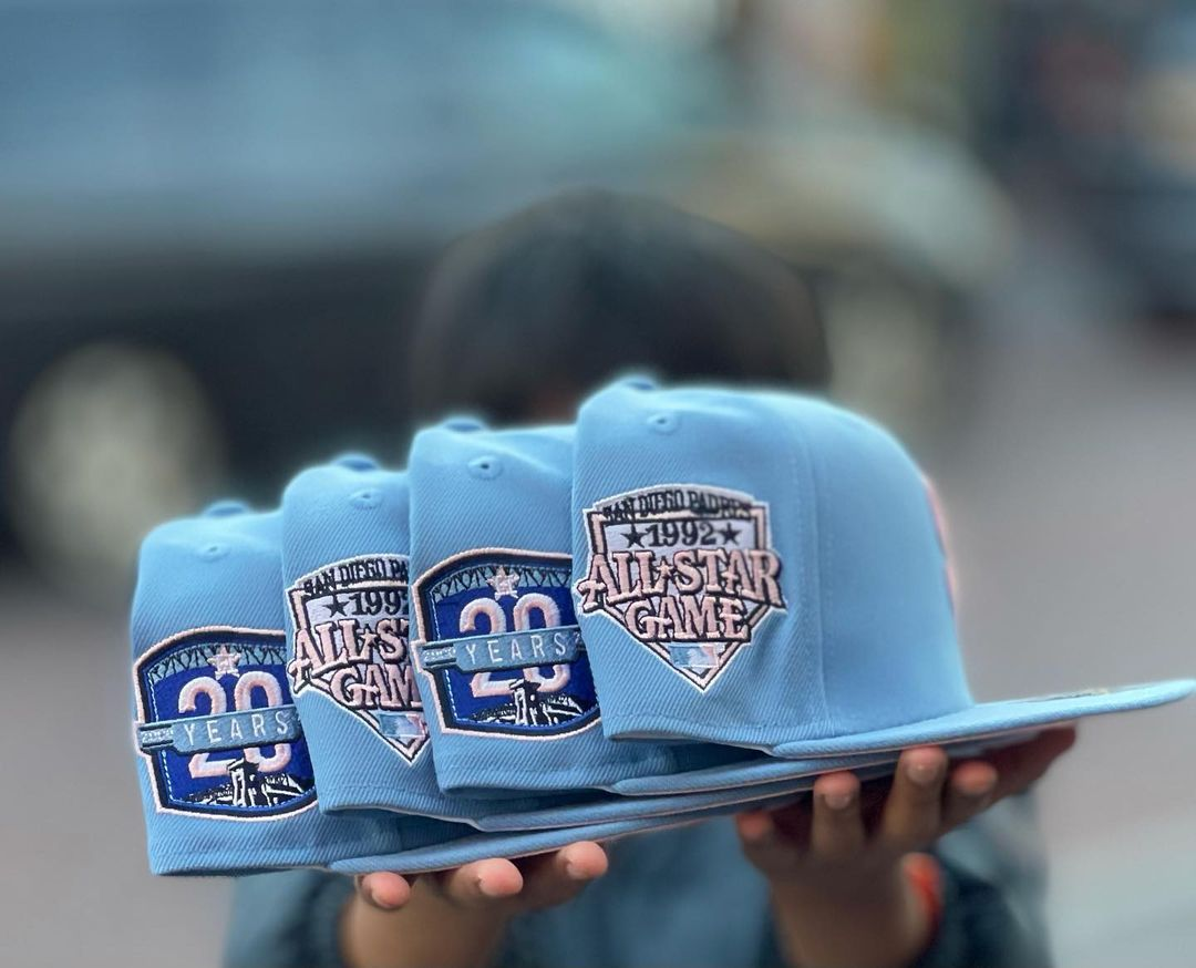Sky Blue Fitted Hats