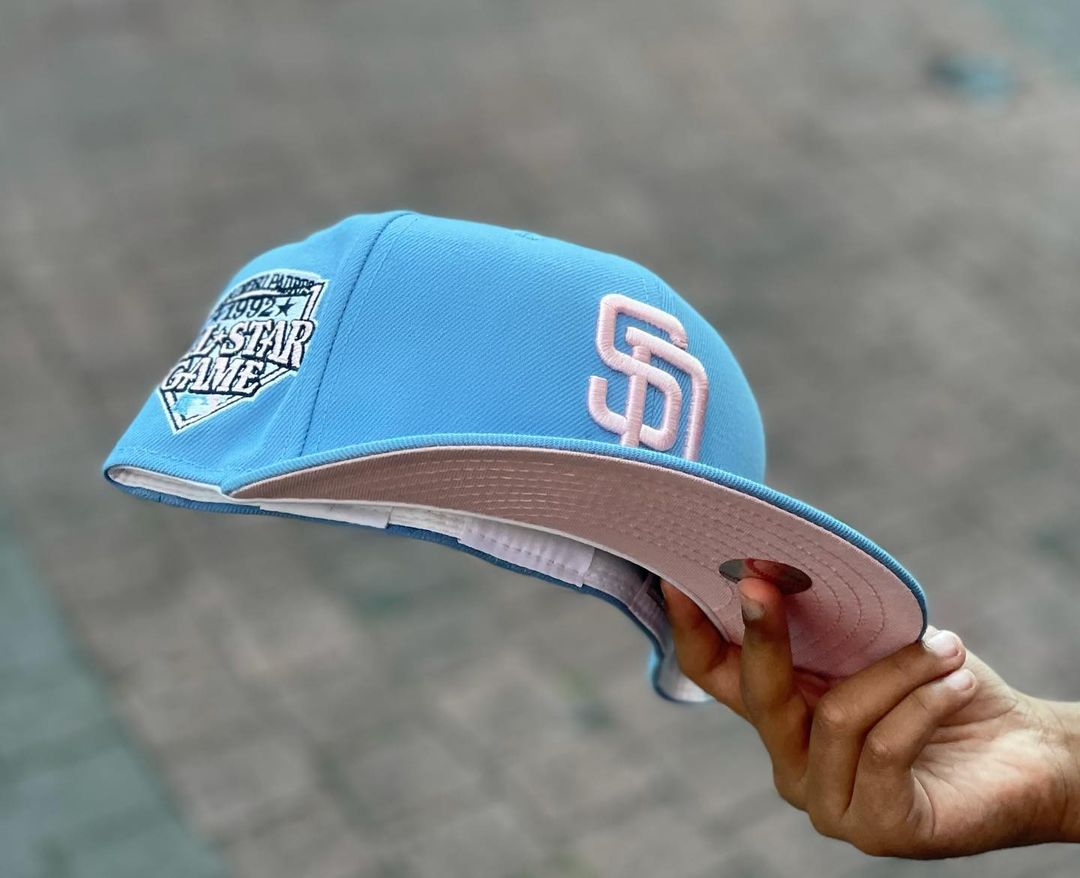 Sky Blue Padres Fitted Hat
