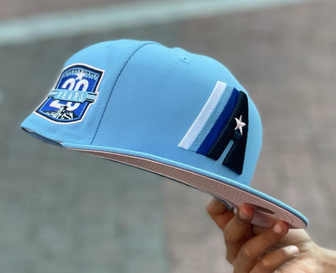 Sky Blue Astros Fitted Hat