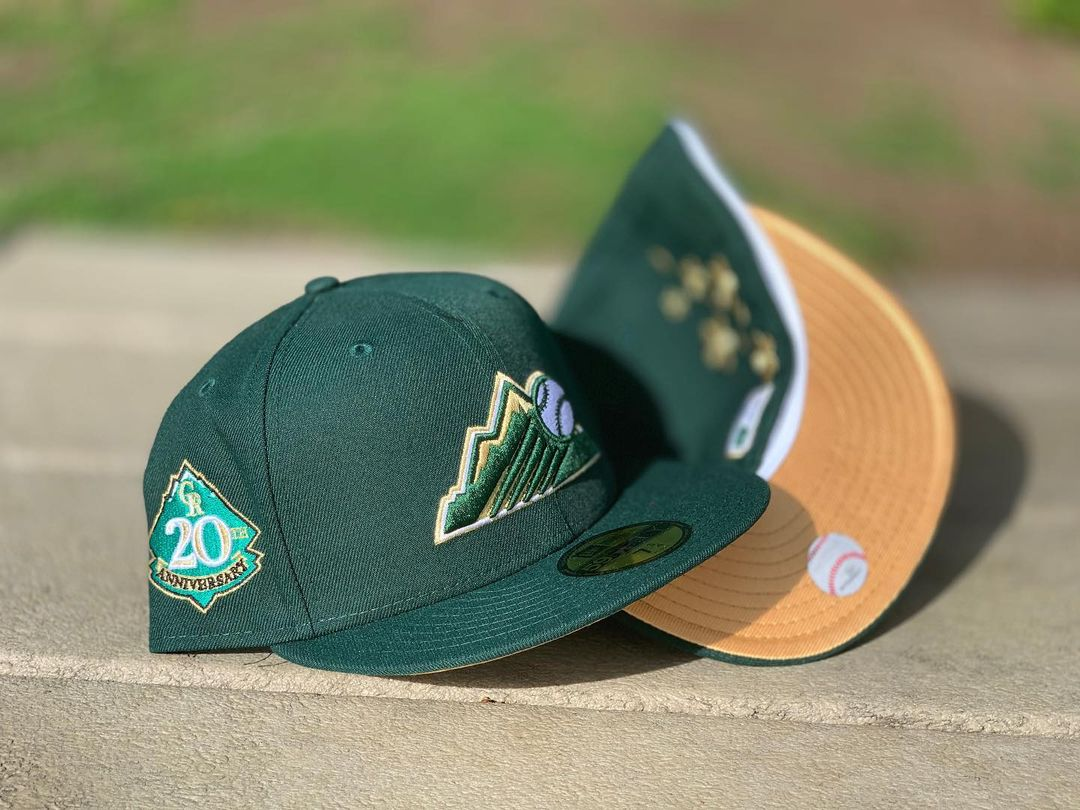 Forest Green Colorado Rockies Fitted Hat