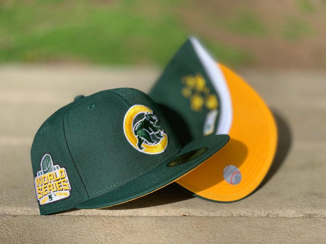 Forest Green Chicago Cubs Fitted Hat