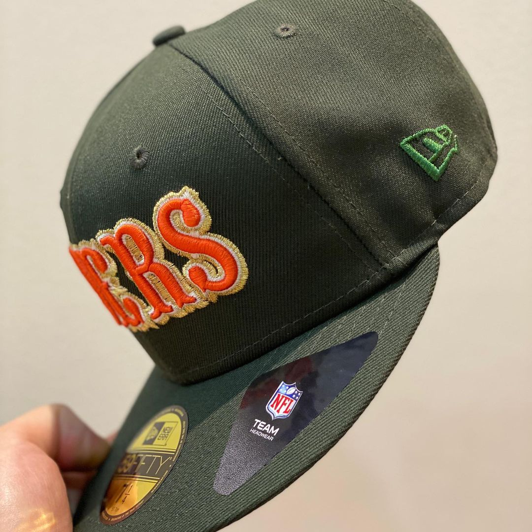 New Era Olive Green & Orange San Francisco 49ers Candlestick Park 59FIFTY Fitted Hat