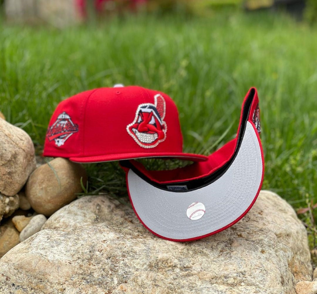 Cleveland Indians Chief Wahoo Swarovski Fitted Hats