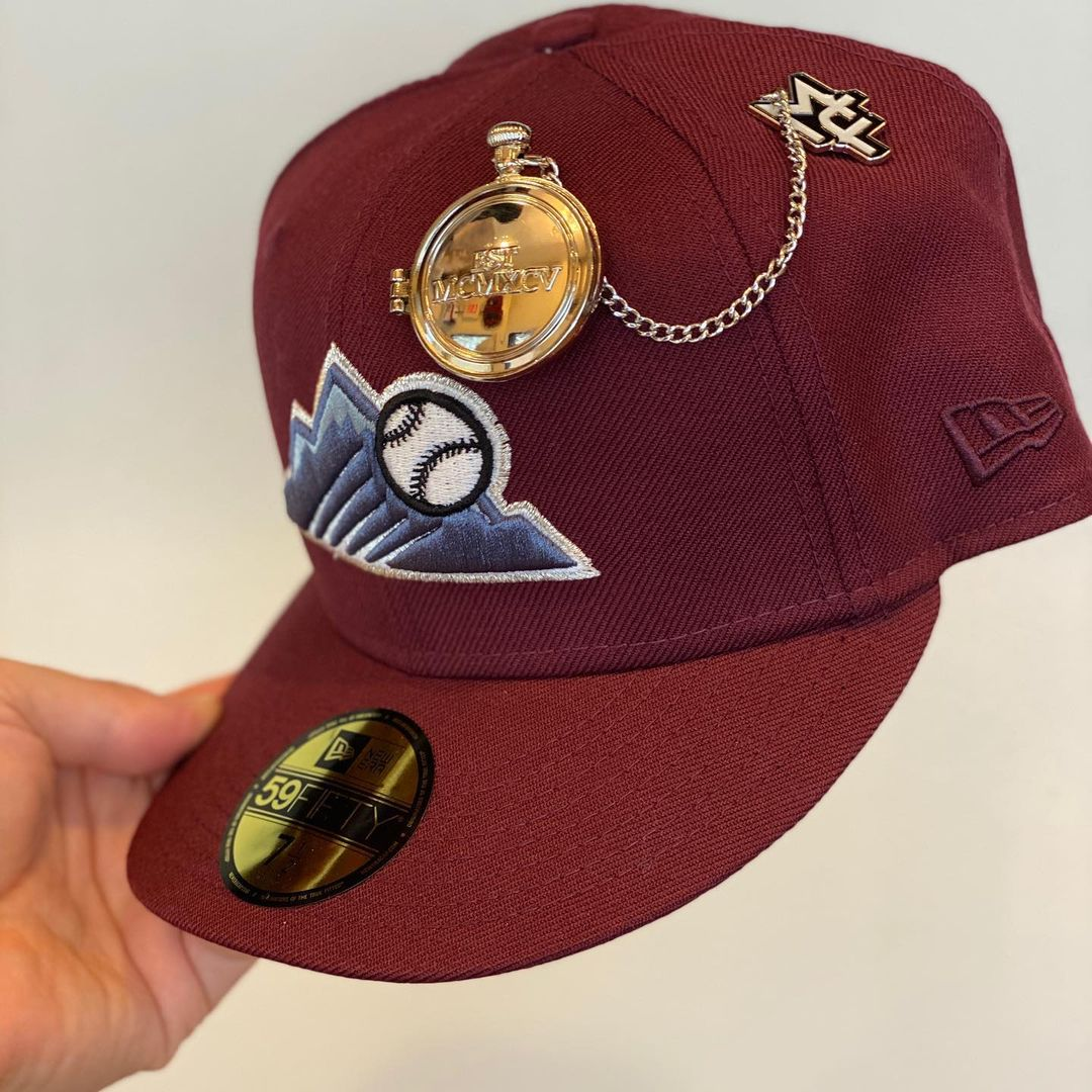 Fitted Hats With Pocket Watch Pin