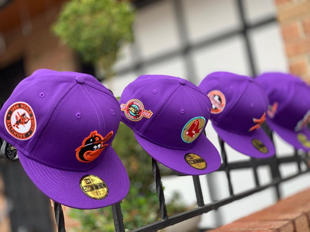 Purple MLB Fitted Hats