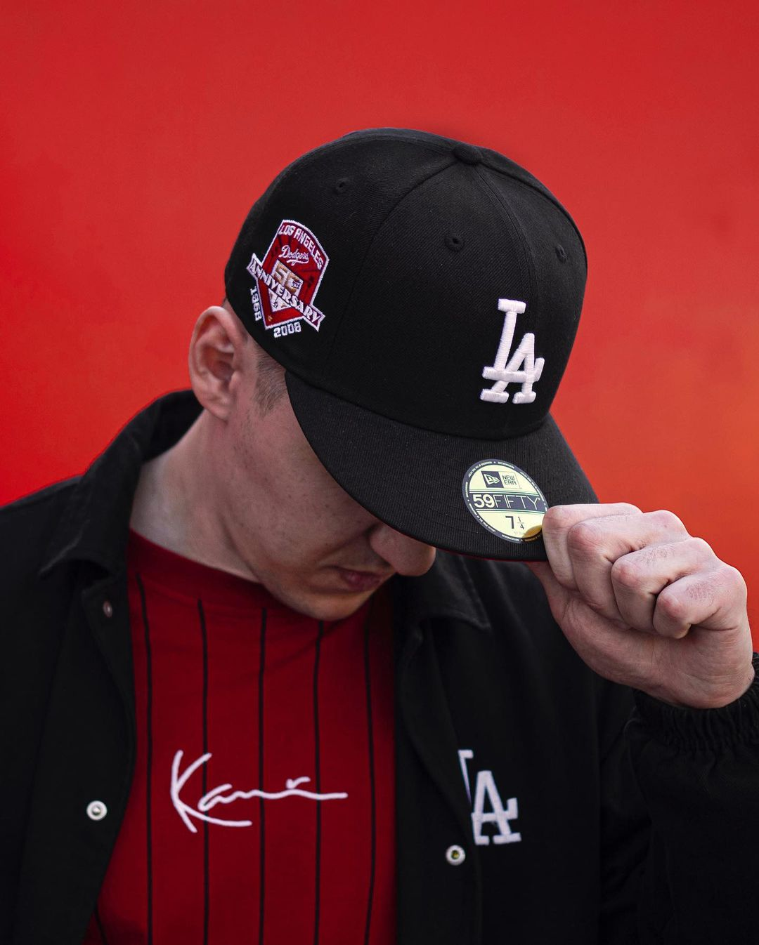 Fam Cap Store MLB Red Black Fitted Hats