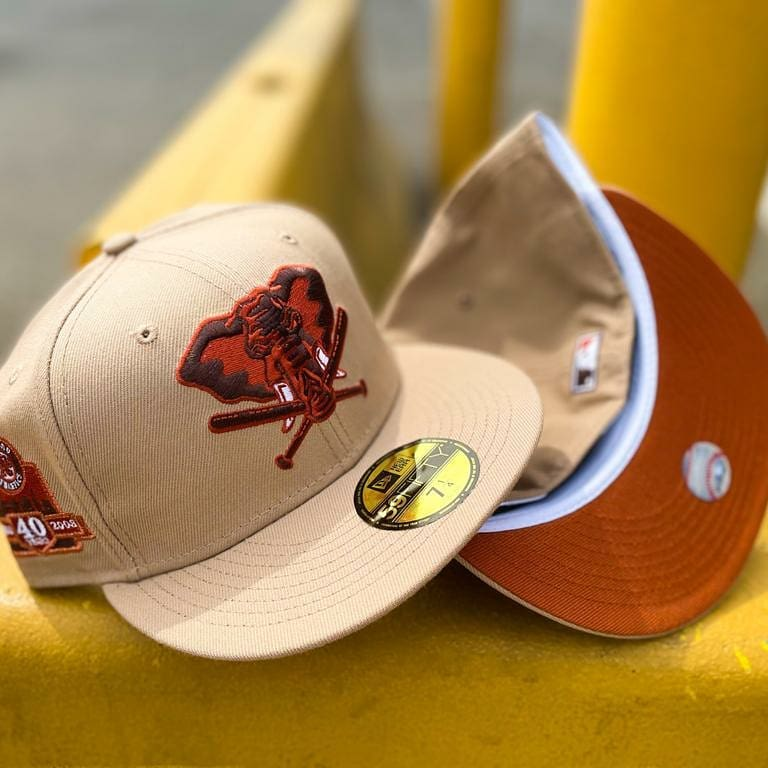 Coffee Color Oakland Athletics Fitted Hat