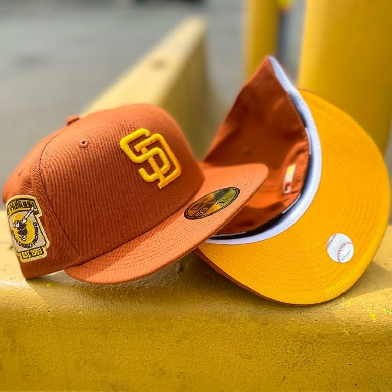 Rusty Orange San Diego Padres Fitted Hat