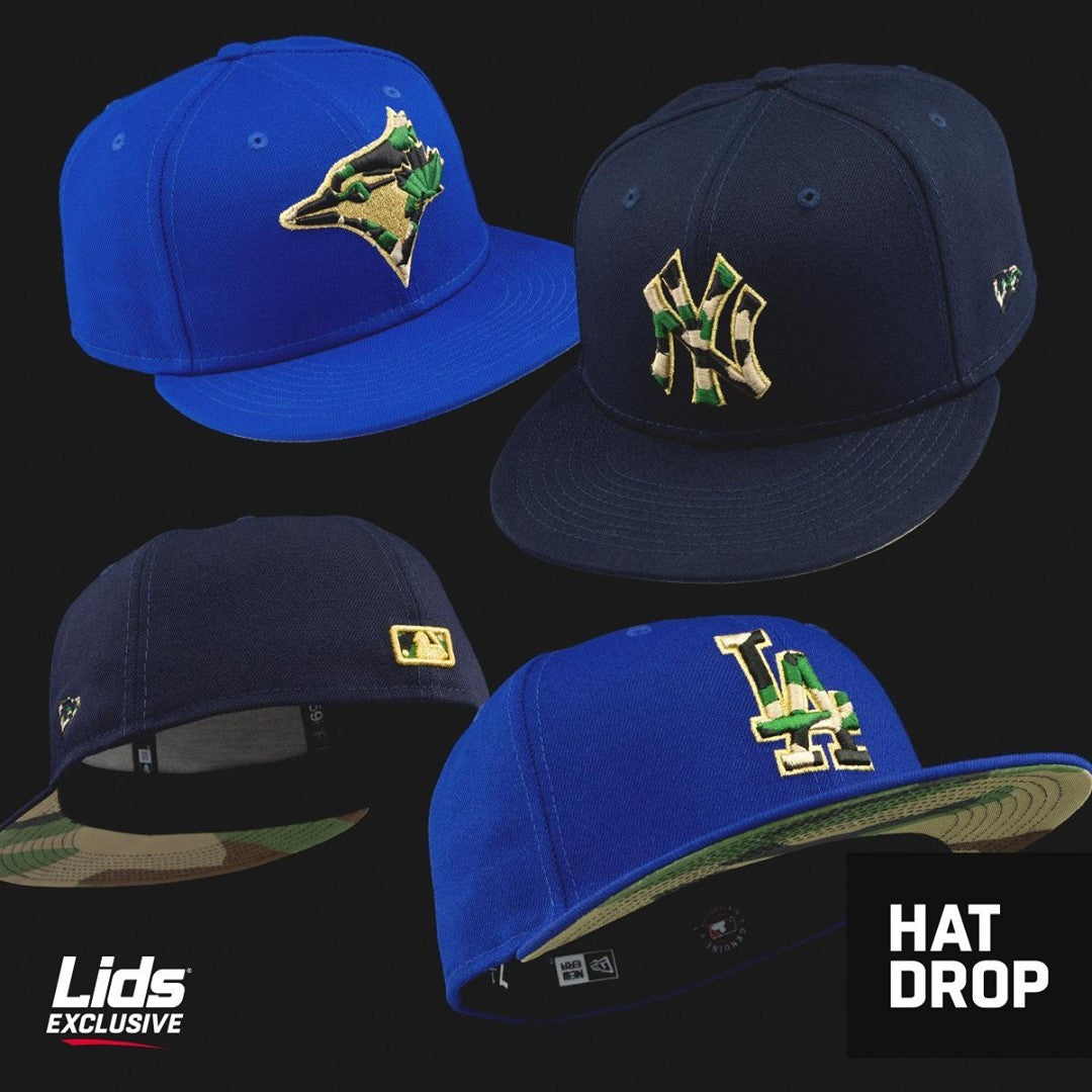 MLB Woodland Camo Fitted Hats