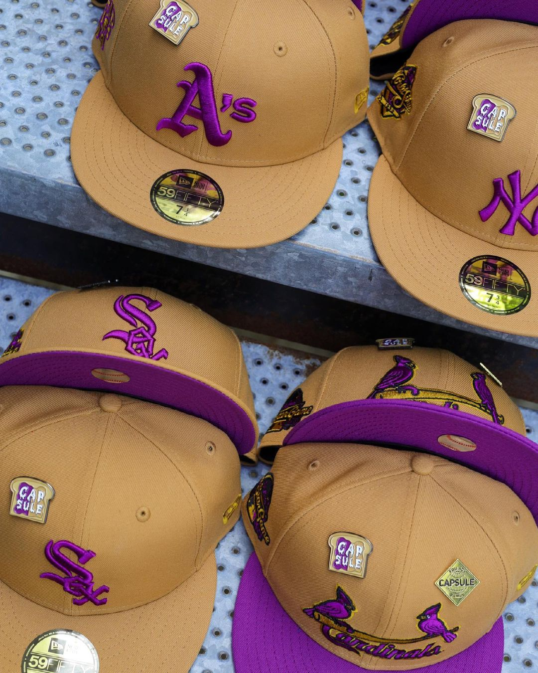 Peanut Butter & Jelly Fitted Hats