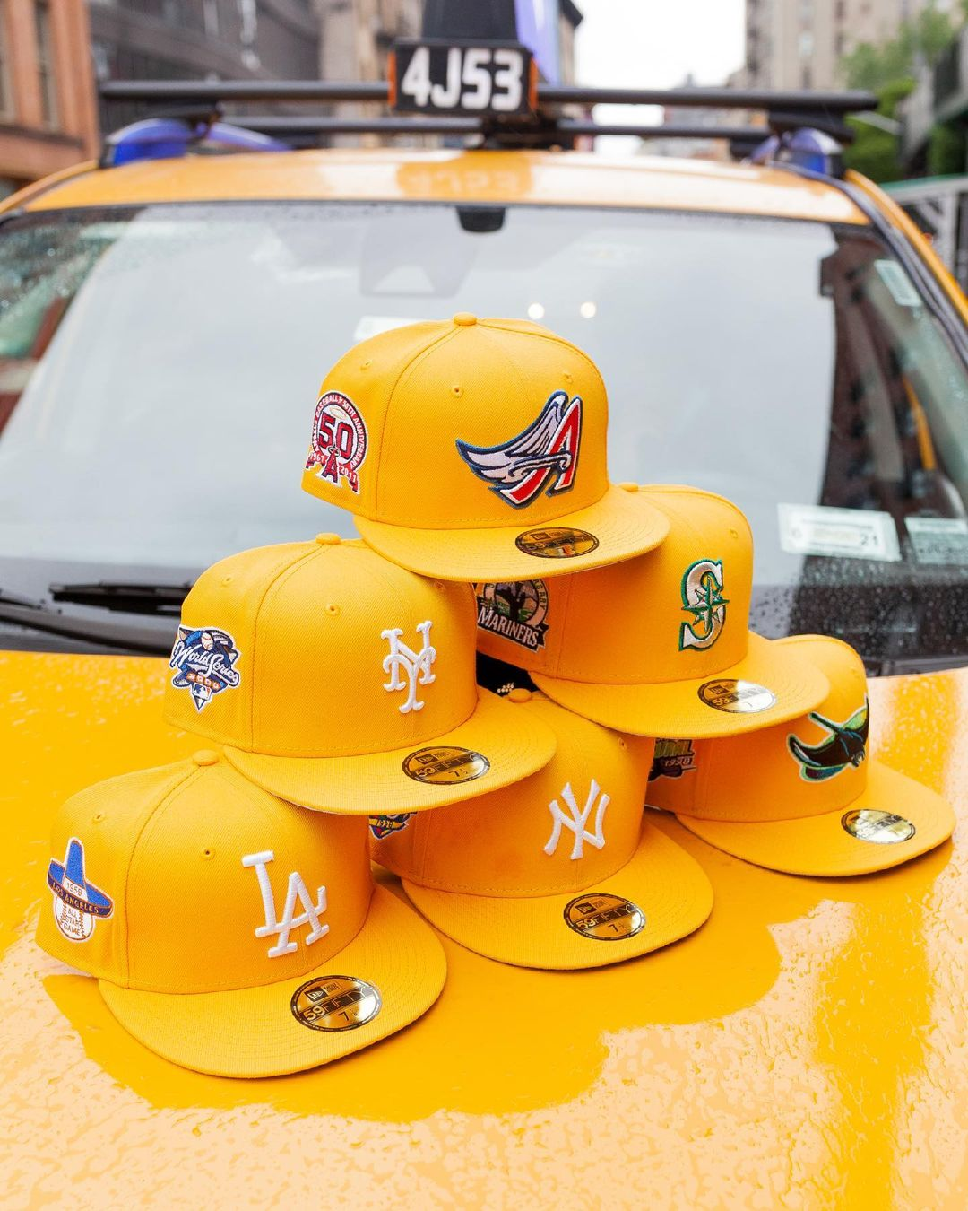 Taxi Cab Fitted Hats
