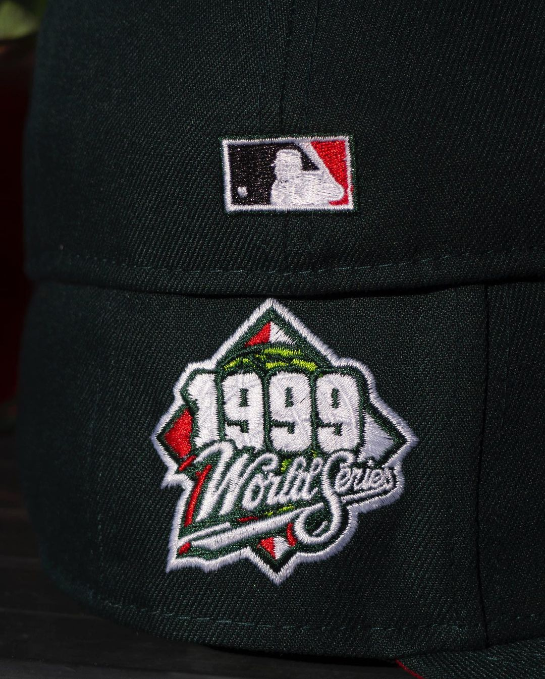 Fam Cap Green Red Fitted Hat