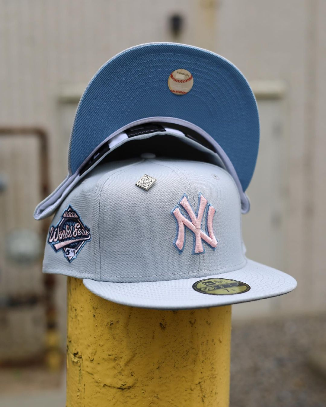 Cloudy Skies Fitted Hats