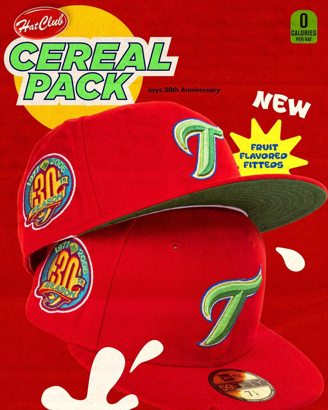Cereal Pack Fitted Hats