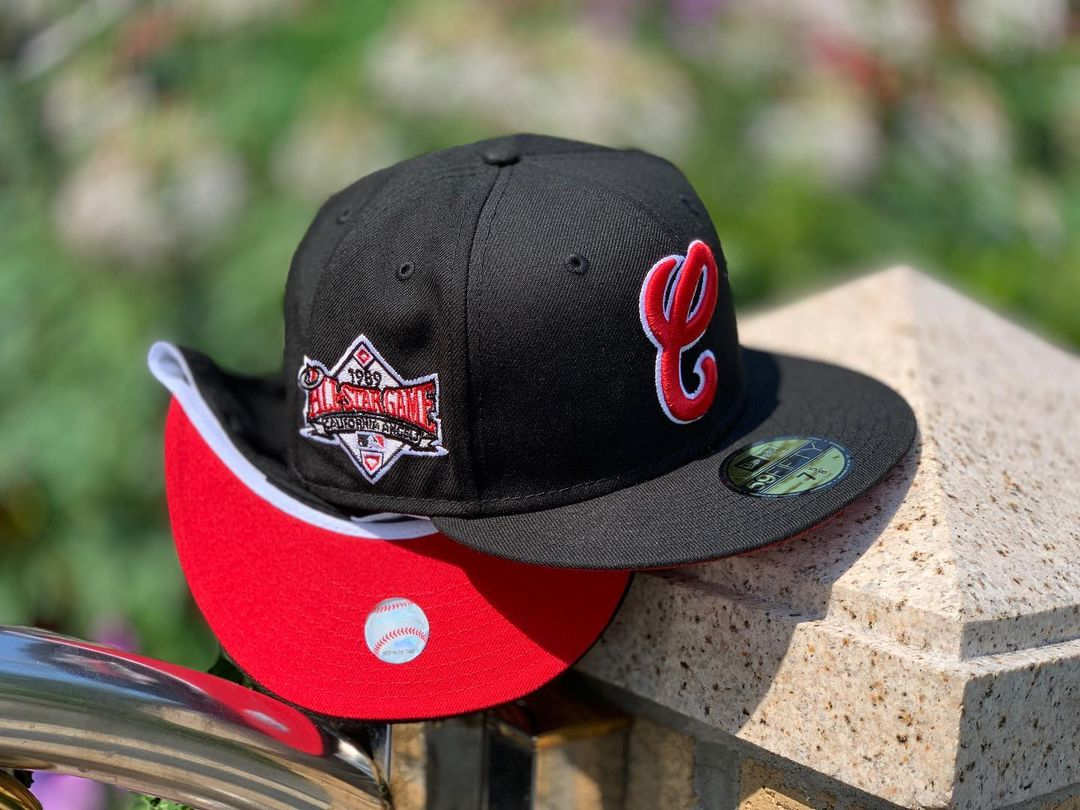 Black & Red Fitted Hat