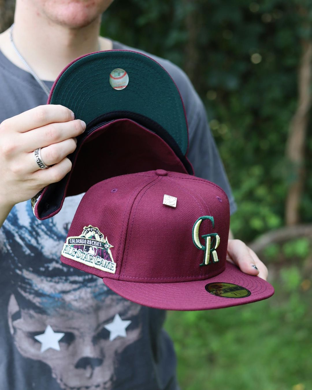 Burgundy Bliss Fitted Hats