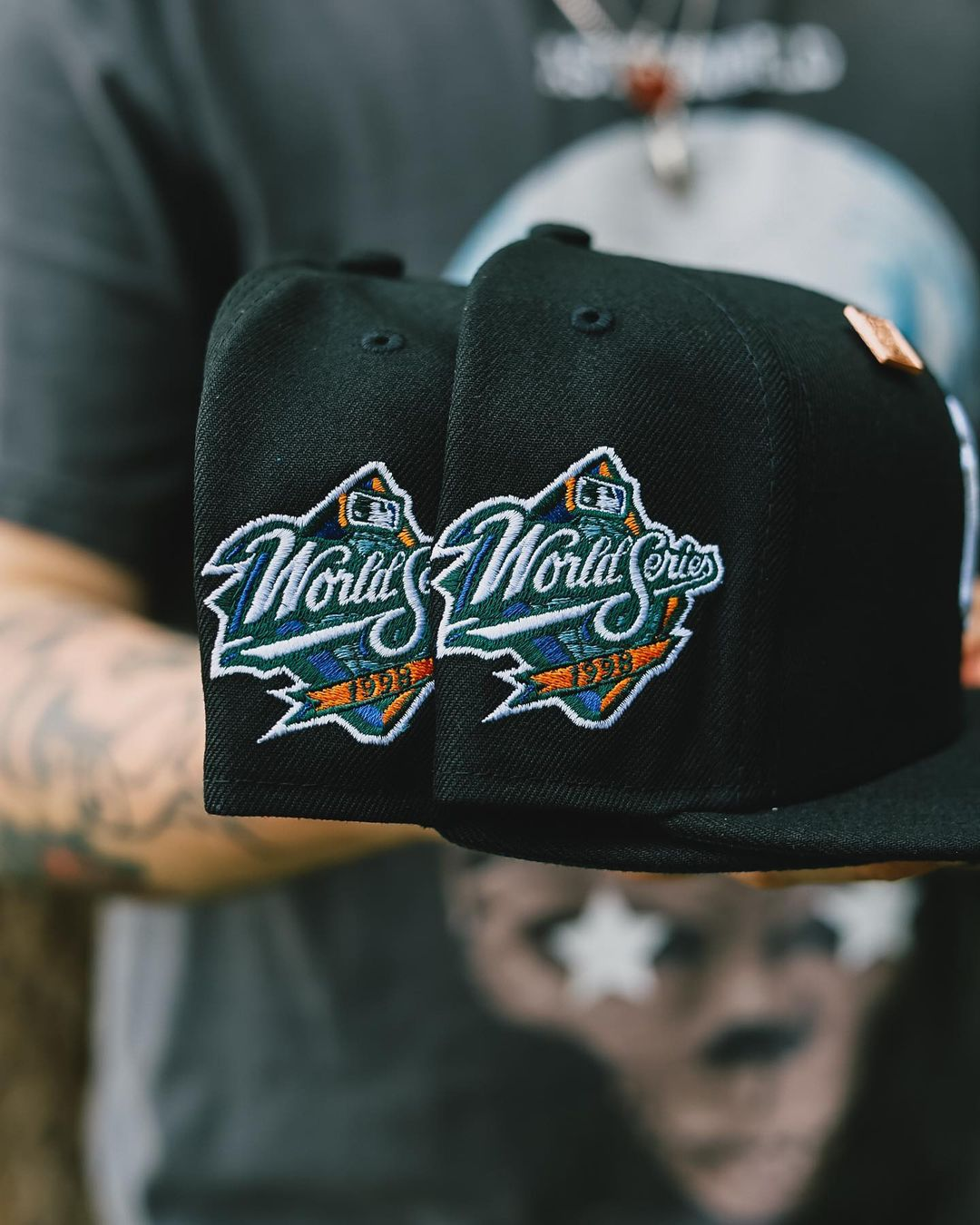 Black New York Yankees 1998 World Series Fitted Cap