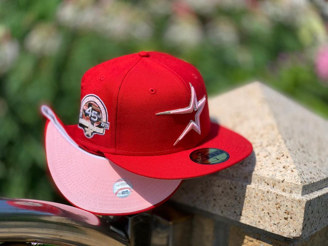 Red & Pink Houston Astros Fitted Hat