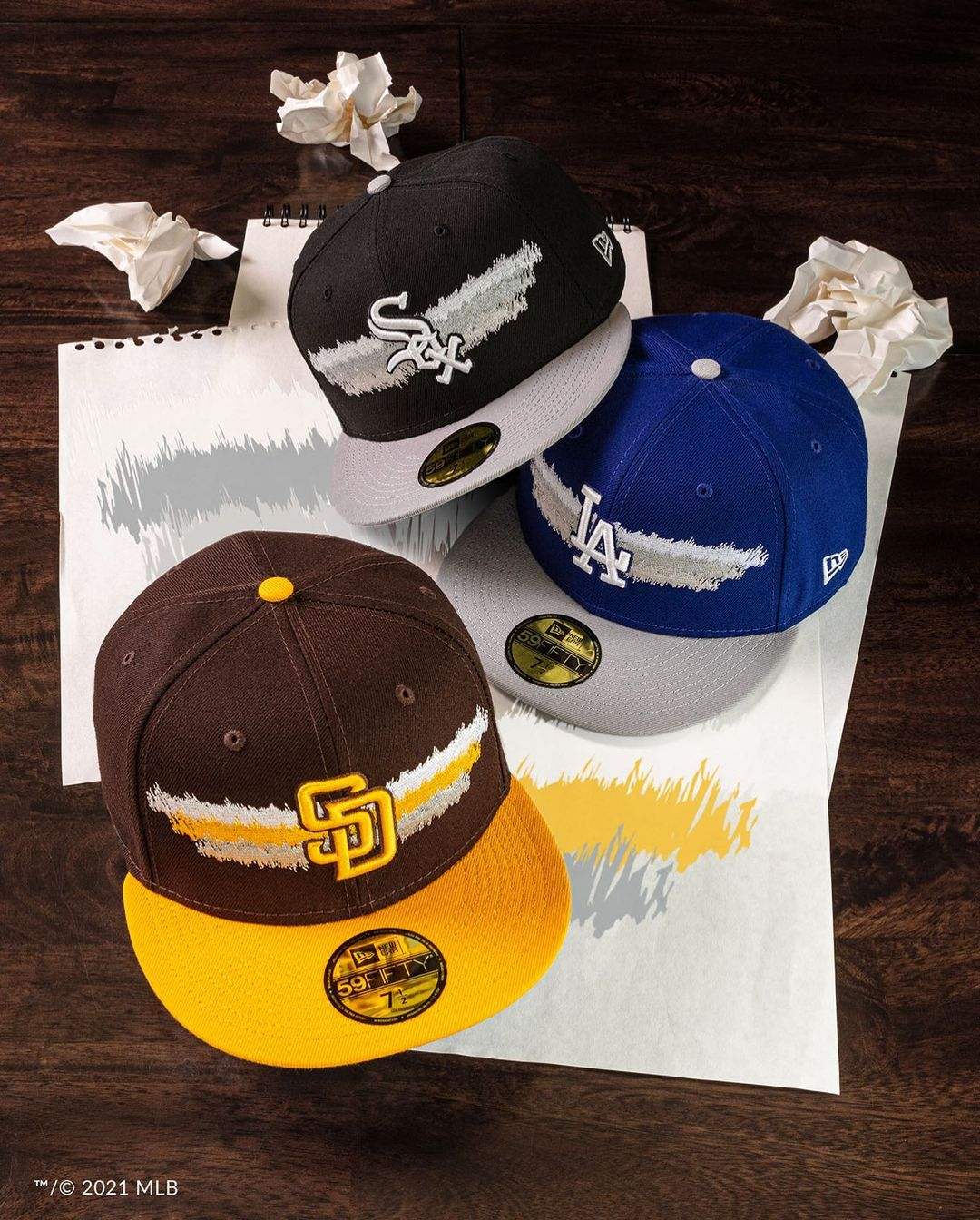 MLB Scribble Fitted Hats