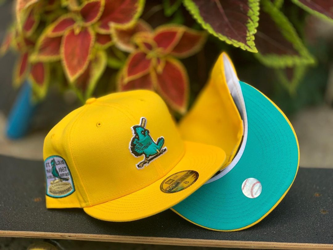 Yellow Turquoise MLB Fitted Hats