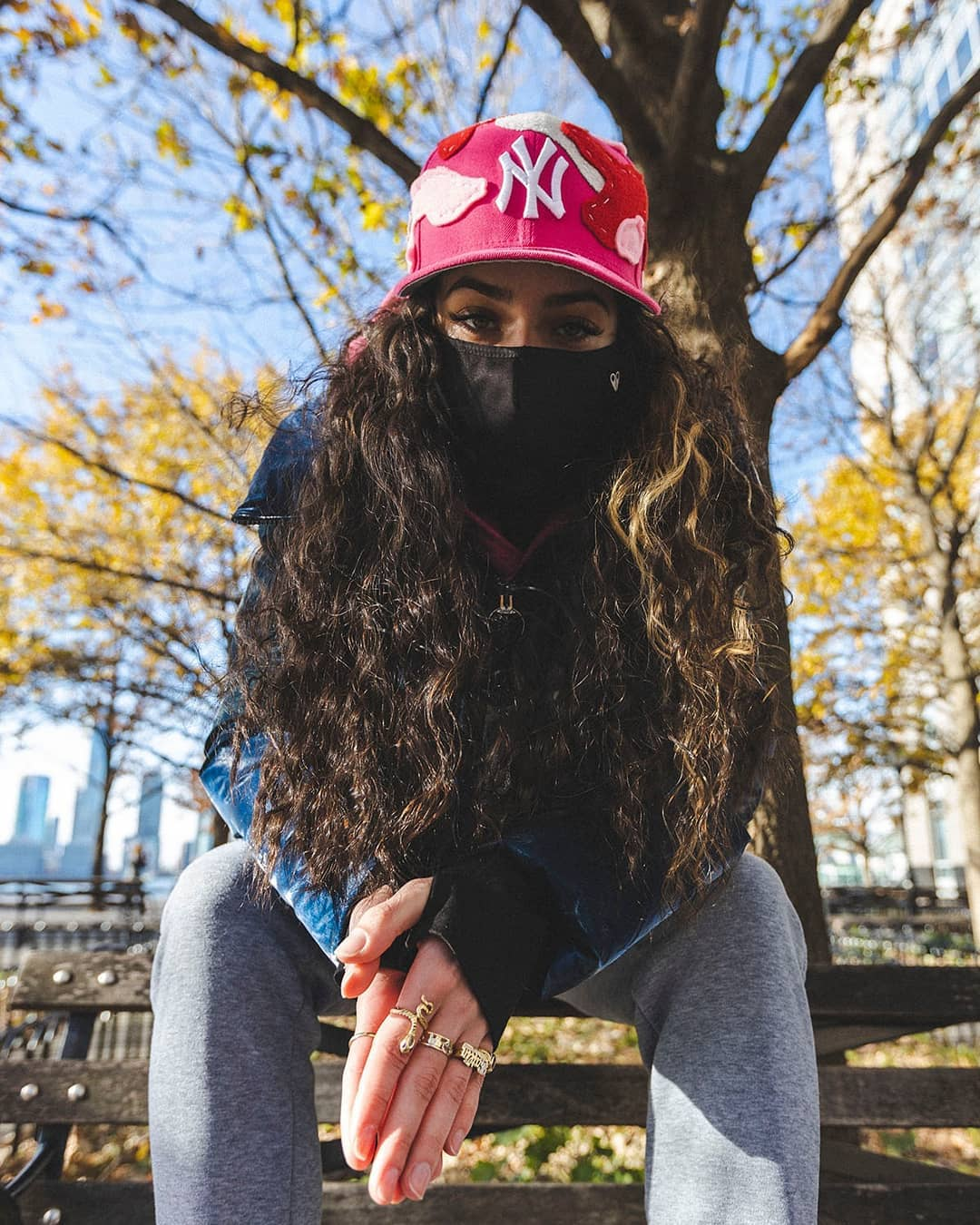 Girl Wearing Fitted Hat