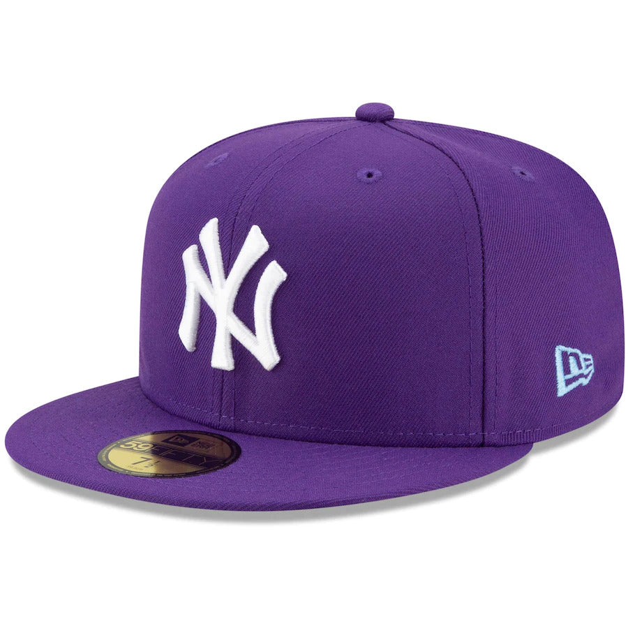 Purple New York Yankees Fitted Cap