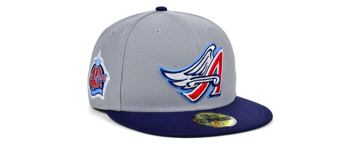 Los Angeles Angels MLB Gray Anniversary Fitted Hat