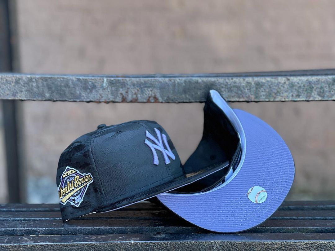 New York Yankees Black Purple Fitted Hat
