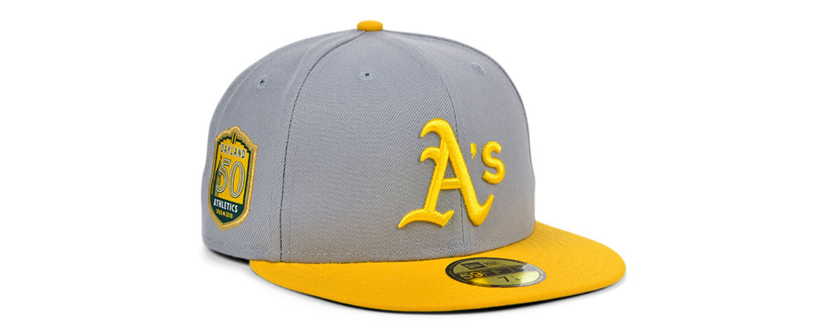 Oakland Athletics MLB Gray Anniversary Fitted Hat