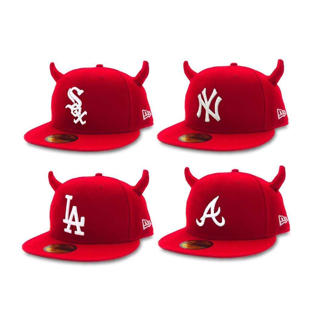 Fitted Hats With Horns