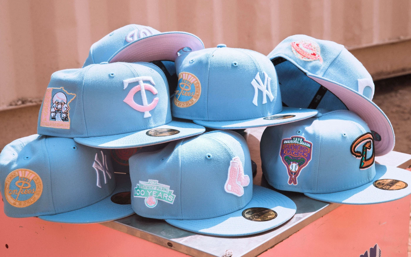 Cotton Candy Fitted Hat