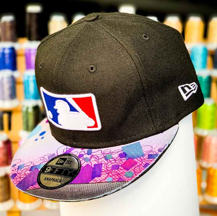 custom art brim hat