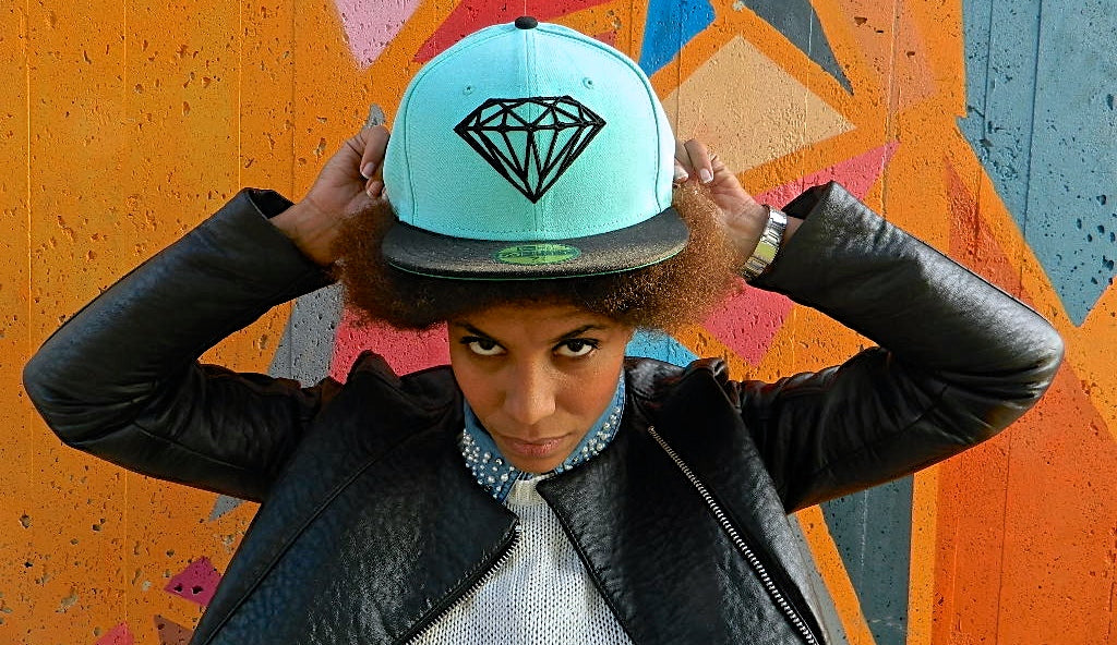 Woman Wearing Diamond Fitted Hat