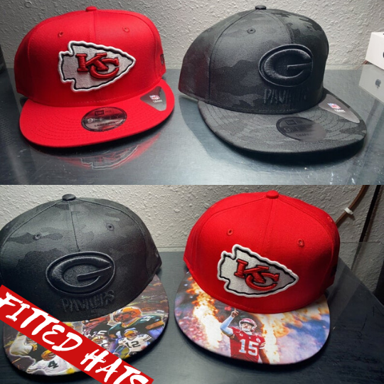custom brim art fitted hat snpback hat